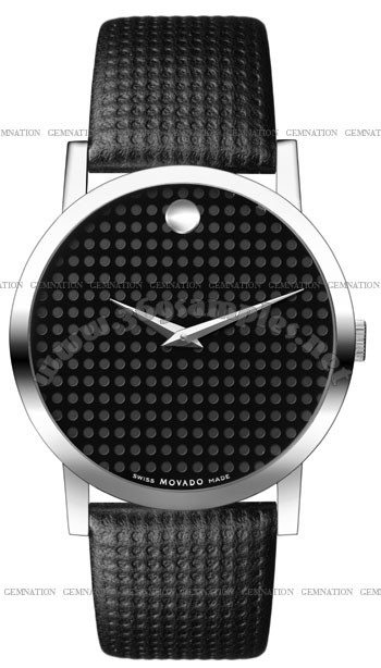 Movado Monogram Mens Wristwatch 0606018