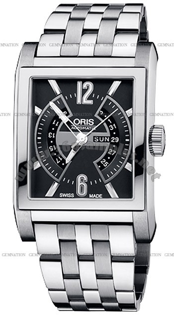 Oris Rectangular Titan Mens Wristwatch 585.7622.7064.MB