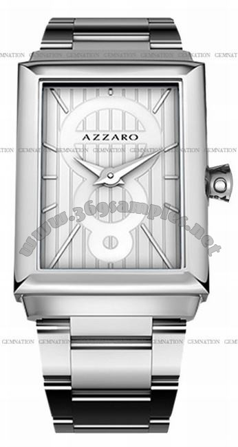 Azzaro Legend Rectangular 2 Hands Mens Wristwatch AZ2061.12AM.000