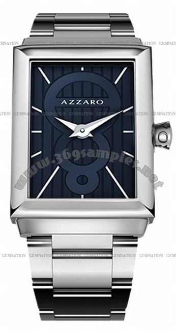 Azzaro Legend Rectangular 2 Hands Mens Wristwatch AZ2061.12EM.000
