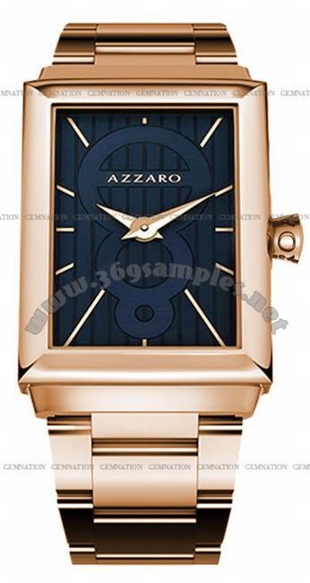 Azzaro Legend Rectangular 2 Hands Mens Wristwatch AZ2061.52EM.000