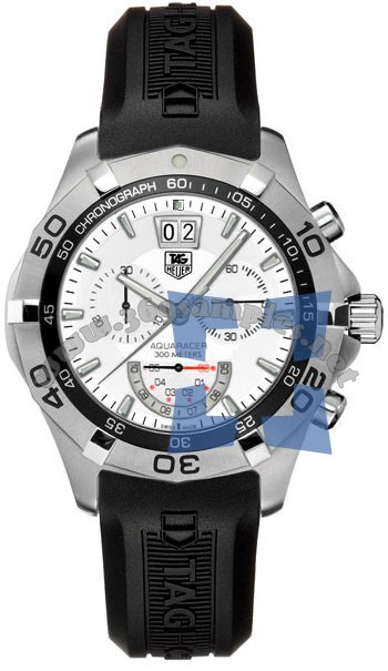Tag Heuer Aquaracer Chronograph Grand-Date Mens Wristwatch CAF101B.FT8011