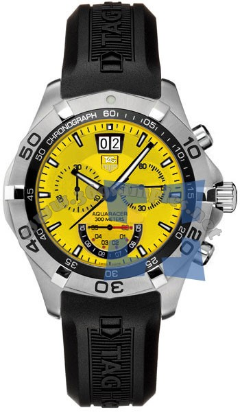 Tag Heuer Aquaracer Chronograph Grand-Date Mens Wristwatch CAF101D.FT8011