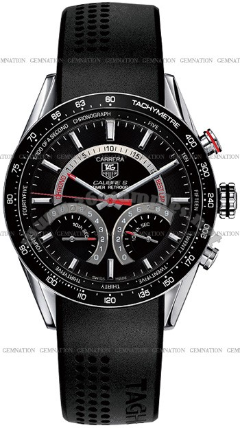 Tag Heuer Carrera Calibre S Electro-Mechanical Lap timer Mens Wristwatch CV7A10.FT6012