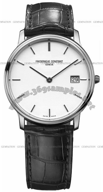 Frederique Constant Index Slim Line Mens Wristwatch FC-220SW4S6