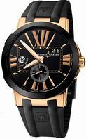 Replica Ulysse Nardin Executive Dual Time Mens Wristwatch 246-00-3-42