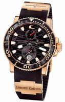 Replica Ulysse Nardin Maxi Marine Diver Black Surf Mens Wristwatch 266-37LE-3A