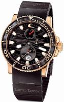 Replica Ulysse Nardin Maxi Marine Diver Black Surf Mens Wristwatch 266-37LE-3B