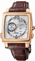 Replica Ulysse Nardin Quadrato Dual Time Perpetual Mens Wristwatch 326-90.91