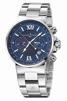Replica Ulysse Nardin Maxi Marine Chronograph Mens Wristwatch 353-66-7.323