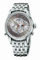 Replica Oris Artelier Worldtimer Mens Wristwatch 690.7581.40.51.MB