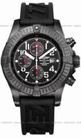 Replica Breitling Super Avenger Black Steel Mens Wristwatch M1337010.B930-122S