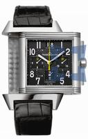 Replica Jaeger-LeCoultre Reverso Squadra Chronograph GMT Black Limited Mens Wristwatch Q7018470