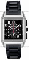 Replica Jaeger-LeCoultre Reverso Squadra Chronograph GMT Black Mens Wristwatch Q701867P