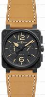Replica Bell & Ross BR 03-94 Chronographe Heritage Mens Wristwatch BR0394-HERITAGE