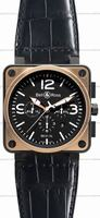 Replica Bell & Ross BR 01-94 Chronographe Pink Gold & Carbon Mens Wristwatch BR0194-BICOLOR