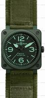 Replica Bell & Ross BR 03-92 Military Ceramic Mens Wristwatch BR0392-CERAM-MIL