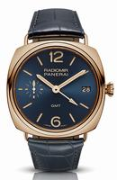 Replica Panerai Radiomir 3 Days GMT Oro Rosso Blue Mens Wristwatch PAM00598